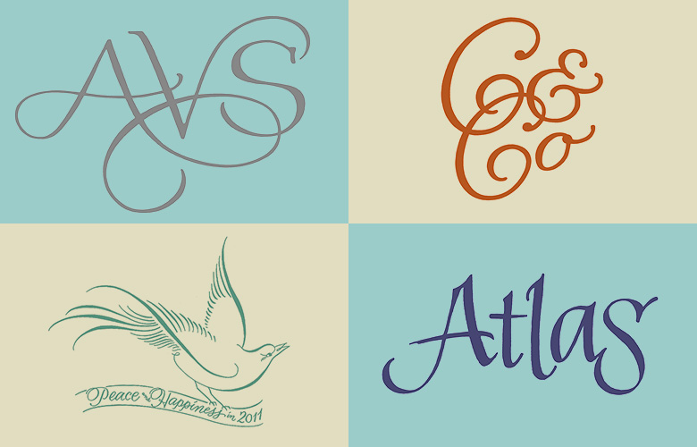 Logos, monograms, and spot illustrations