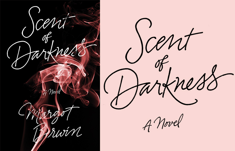 Sexy monoline script for this mystery by Margot Berwin. (Design: Emily Mahon, Pantheon)